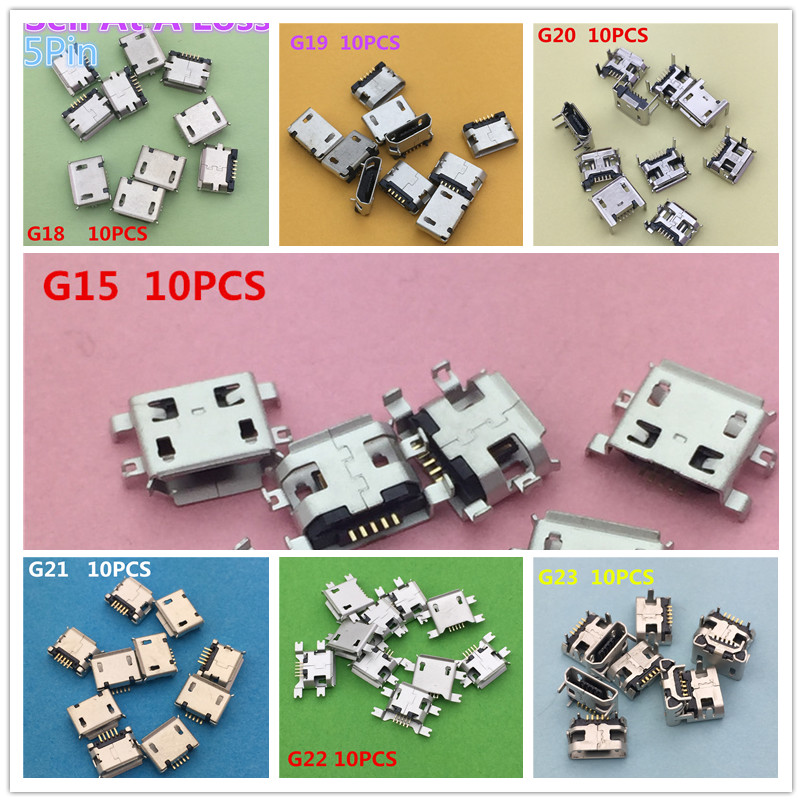 70PCS/lot  7 Kinds Mini USB  Socket Connector for Tail Charging Mobile Phone Data Interface High Quality Sell At A Loss YT2062 10pcs g55 usb 2 0 4pin a type female socket connector curly mouth bent foot for data transmission charging sell at a loss usa