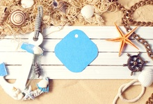Laeacco Beach Wooden Board Anchor Fishing Net Baby Photography Background Customized Photographic Backdrop For Photo Studio
