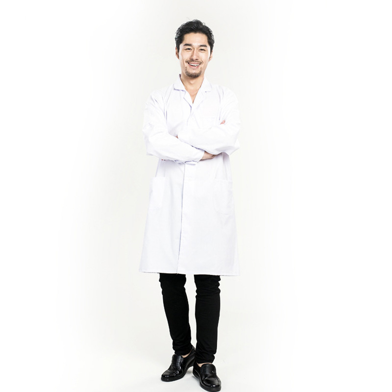 Medical Services Uniform Nurse Clothing Long-sleeve Polyester Protect lab coats Cloth Women or Men White Medical Coat Clothing