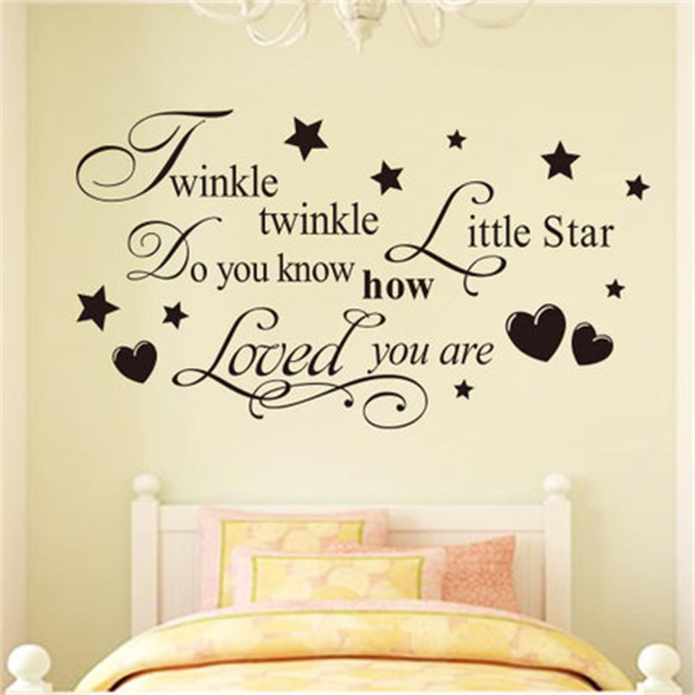 wall letters baby promotion shop for promotional wall letters baby twinkle twinkle little star do you know how loved you are for kids baby bedroom vinyl wall sticker lettering decor decal
