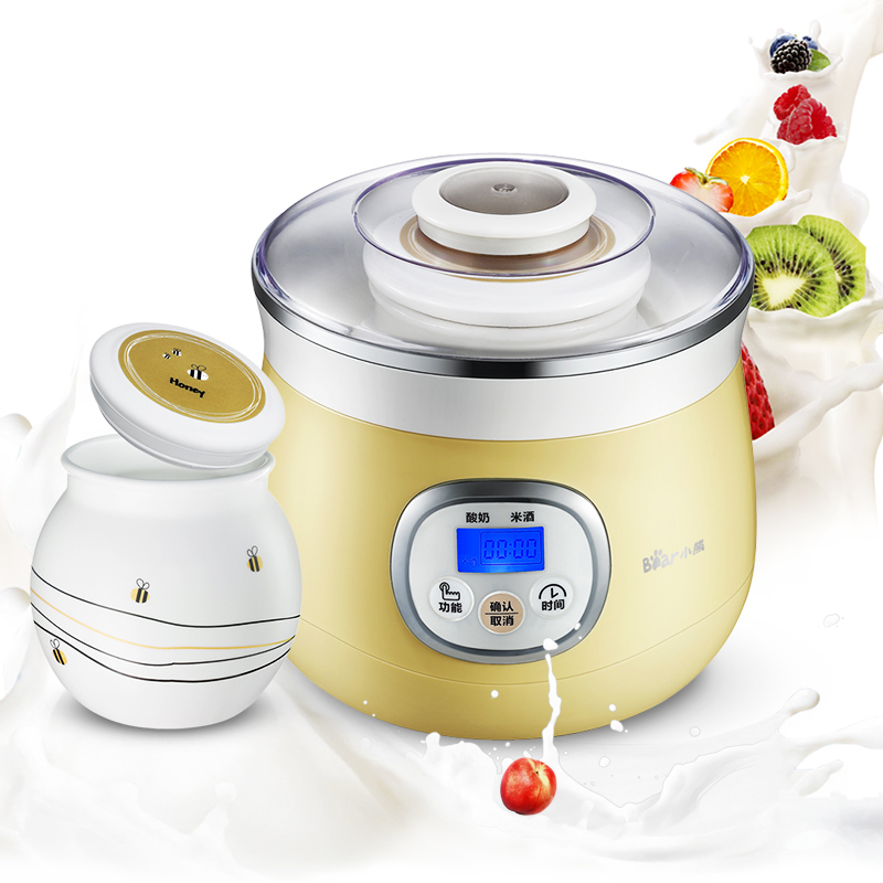 Electric Automatic Yogurt Maker with Healthy Porcelain Liner High Quanlity Yogurt Machine Acidophilus Rice Wine Natto Maker purple yogurt makers rice wine natto machine household fully automatic yogurt glass sub cup liner multifunctional kitchen helper