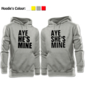 Casual Long Sleeve Tops AYE HE'S MINE AYE SHE'S MINE Printed Pullover Hoodies Couples Lovers Sweatshirt Boy Girl Men Women