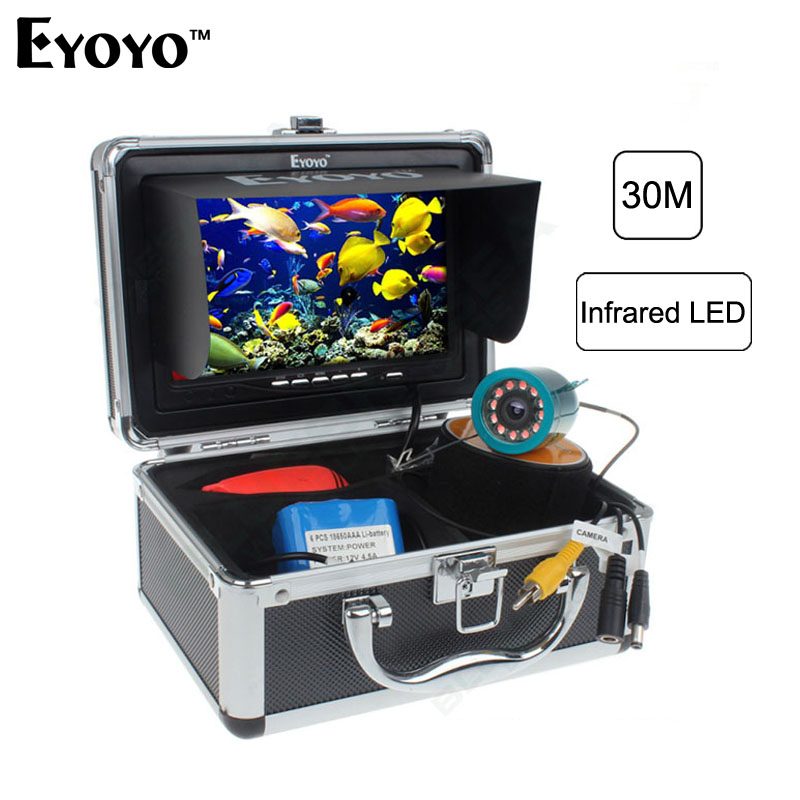 Eyoyo Original 1000TVL Light Controllable 7 Underwater Video Fishing Camera Kit Fish Finder IR LED Infrared Lamp Fish Camera цена