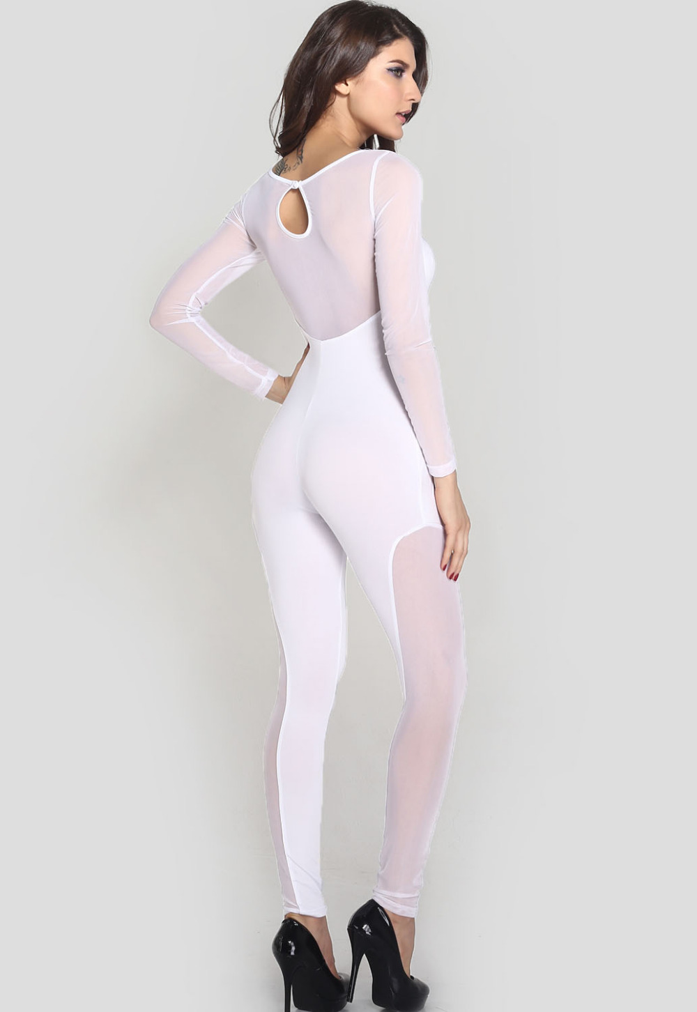 white catsuit sexy