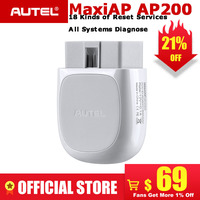 Autel AP200 Bluetooth OBD2 Scanner Code Reader with Full Systems Diagnoses AutoVIN TPMS IMMO Service for Family DIYers PK MX808