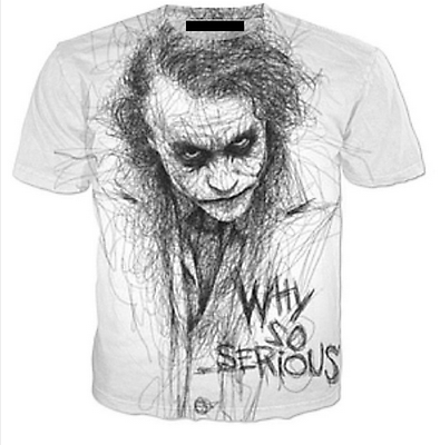 New T-Shirt 3D Why So Serious Men Famous Joker Funny Printed Art Design S-5XL