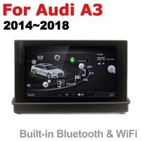 "hd מסך 7"" HD Pop up מסך סטריאו אנדרואיד רכב GPS Navi מפה אאודי A3 8V 2014 ~ 2018 MMI מקורי סגנון נגן מולטימדיה לרכב רדיו (5)"