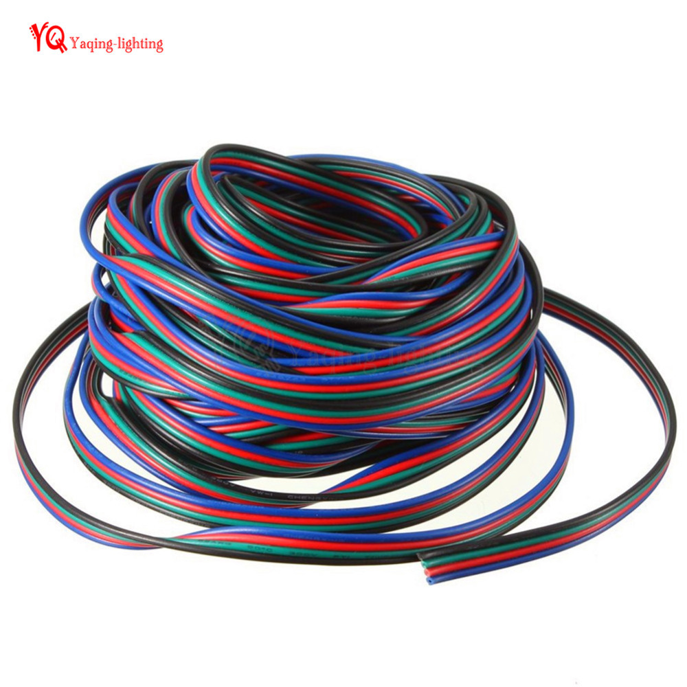 100m Roll 4 Pin 18awg Led Connector Extension Cord Rgb Black Wire Wiring An Cable For Smd 5050 3528 App102 Ws2801 8806 Strip In Wires Cables From Lights