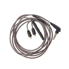 3,5 мм кабель для наушников съемный MMCX шнур с микрофоном для Shure SE215 SE425 UE900