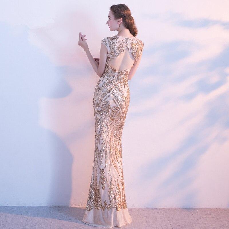 Robe De soirée robes De soirée longues 2019 paillettes sirène fête De bal la mariée robes De Banquet robes Elie Saab - 2