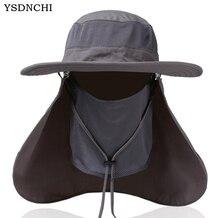 YSDNCHI Sun Hats Mens Large Round Brim Unisex Block Quick Drying Fishing Hat Summer Cap For Travel Womens Casual Bucket Hats