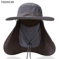 Outdoor Sun Hats Men Women Large Round Brim Climbing Mountain Block Quick Drying Fishing Hats Summer