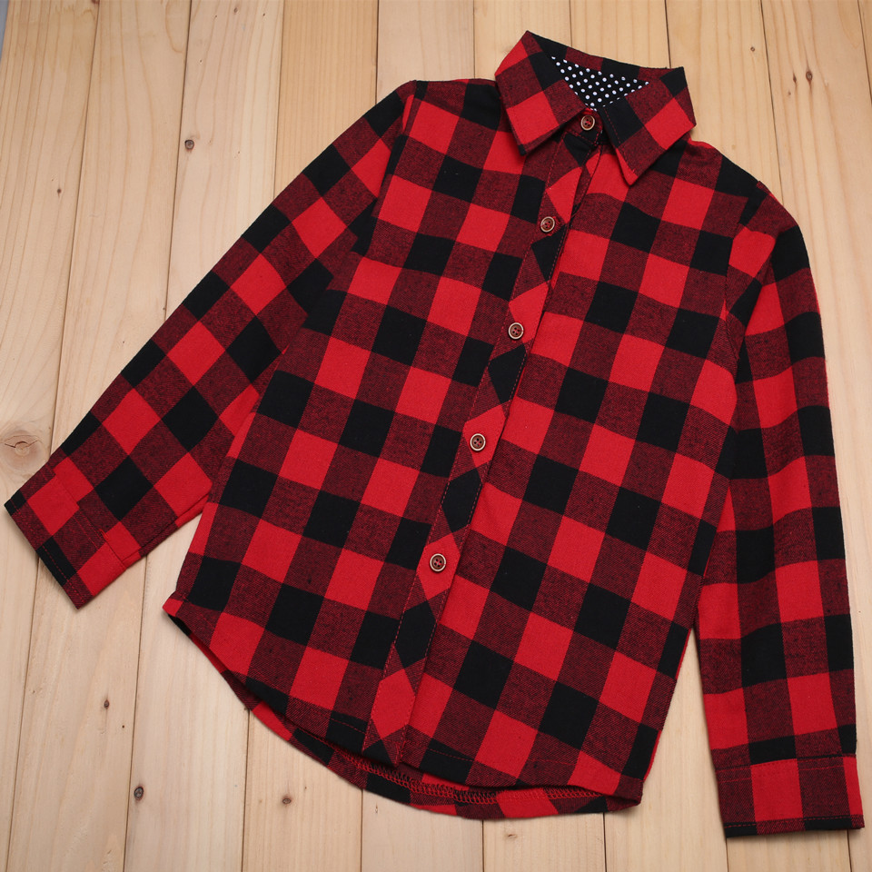 Seartist Baby Girls Shirt Bebe Red Plaid Blouse Bebes Girl Spring Outfit Baby Girl Clothes Girls Clothes 2 11 Yrs 2019 New 23C in Blouses Shirts from Mother Kids