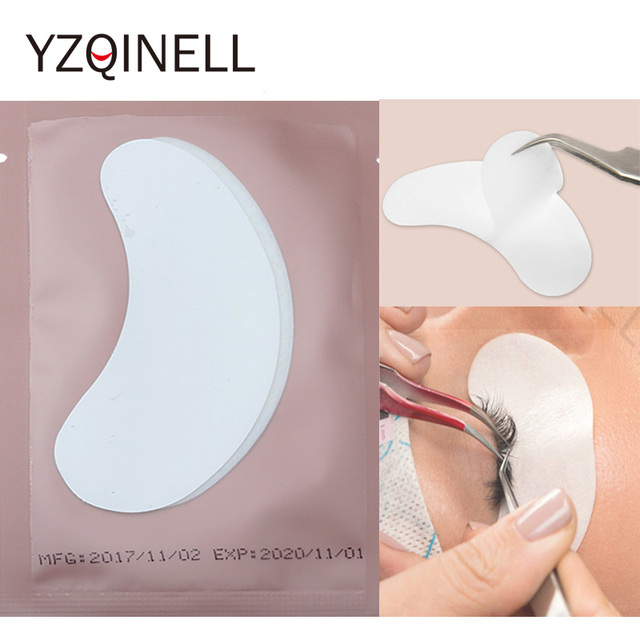 25/50/100 Pairs Eye Patch Eyelash Extensions Under Eye Pads Lash Paper Patches for Eyelash Extension False Eyelashes Tools