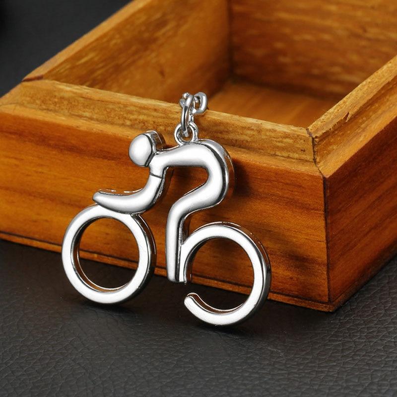 Silver Metal Bicycle Bike Cycling Riding Keychain Keyring Keyfob Key Chain Ring 50 years perpetual calendar keyring keychain silver alloy key ring keyfob decoration 8ou9