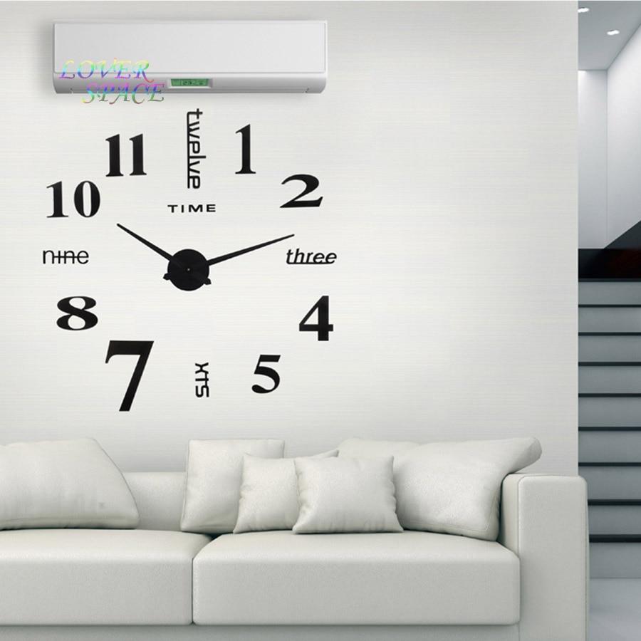 Groovy Living Room Online Shop Europe Ideas New Quartz Huge Wall Clock Online Shop Europe Ideas New Quartz Huge Wall Clock Homedecoration Diy Acrylic Mirror Wall Sticker furniture Simple Wall Clock