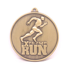 3D sports medal cheap custom made antique gold high quality metal running game medals