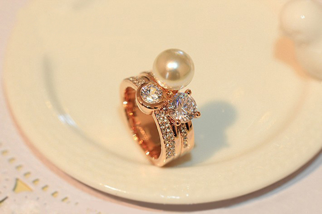 Real Pure Sterling Ring Natural Pearl