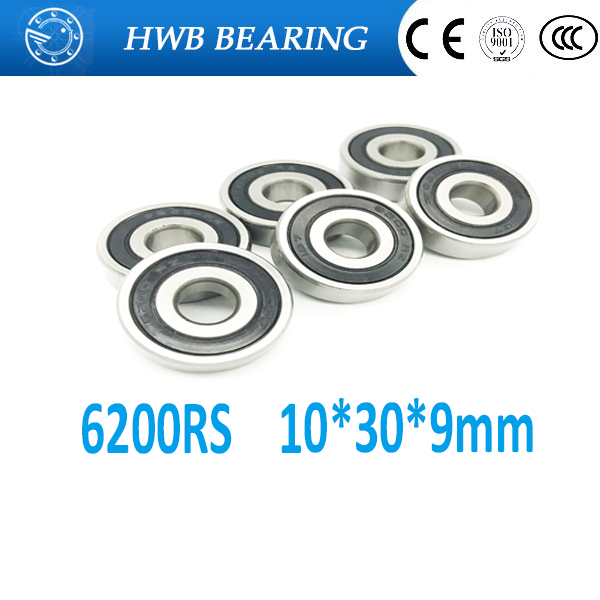 6200-2RS two side rubber seals bearing 6200-rs ball bearings 6200 rs Qty.2