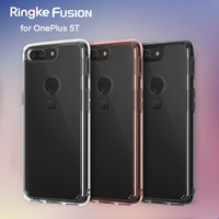 Original Ringke Fusion Clear PC Back Flexible TPU Edge Shock Absorption Drop Resistance Case For OnePlus