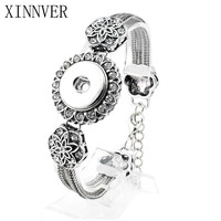 Fashion Snap Bracelet adjustable Button jewelry for heart xinnver snap bracelet in charm bangel fit 18-20mm snaps