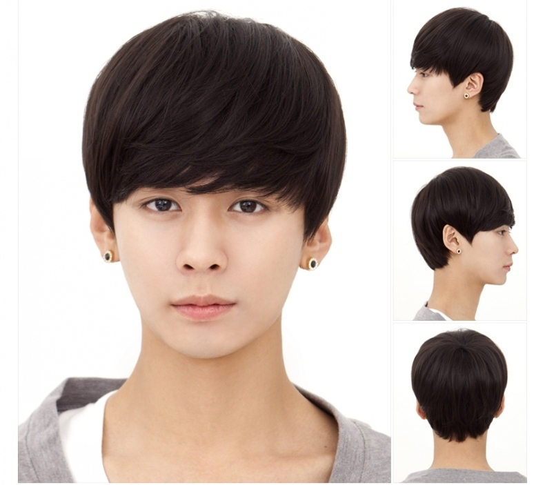 Handsome Boys New Korean 30cm Short Hair Wigs Light Brown