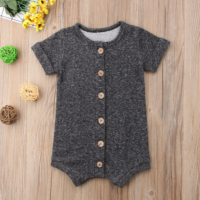 Summer Newborn Toddler Baby Boy Romper Infant Girls Casual Jumpsuit Cotton Short Sleeve Onesie Sunsuit Clothes 1