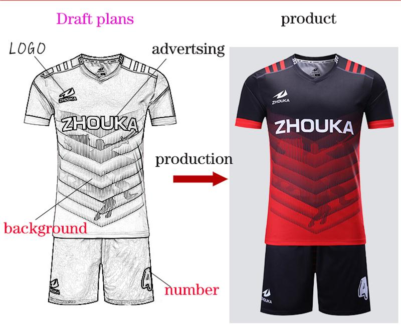 Custom Men's football kit uniform home soccer jersey set ...