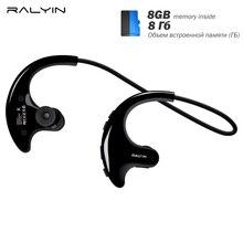 RALYIN Indossabile Mp3 Giocatore di Musica di Sport Cuffie Senza Fili  Bluetooth Auricolari Costruito in 8 9146d05a579e