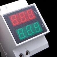 AC Ampèremètre Voltmètre Rail Din LED Volt Ampèremètre Affichage de la Puissance Active Facteur Temps D'énergie Tension Courant
