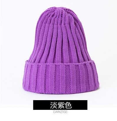 fb5999084 Koeran Style Winter Hats For Men And Women Casual Fashionable Wool Hats Red  Green Purple Dark Blue Yellow Rose Black