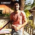 Brand new homens simwood clothing t shirt do verão de manga curta o-pescoço carta Ocasional camisa Magro T Dos Homens Tops Tee Frete Grátis TD1036