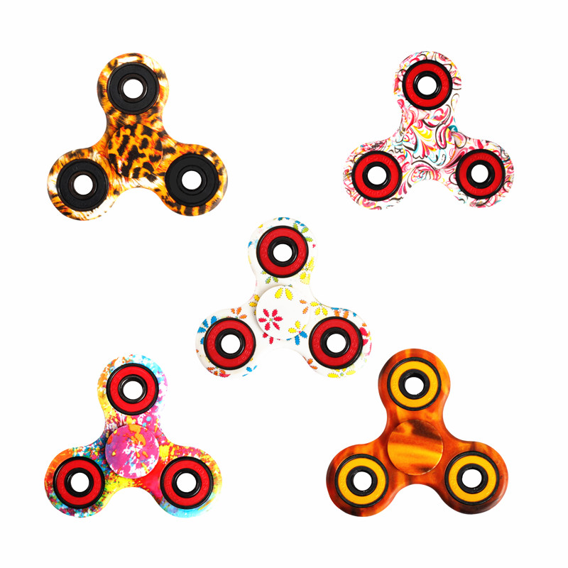 new 6 style colour -Spinner Fidget Toy Plastic EDC Hand Spinner For Autism Reliever Spiral Gifts Toys For Child