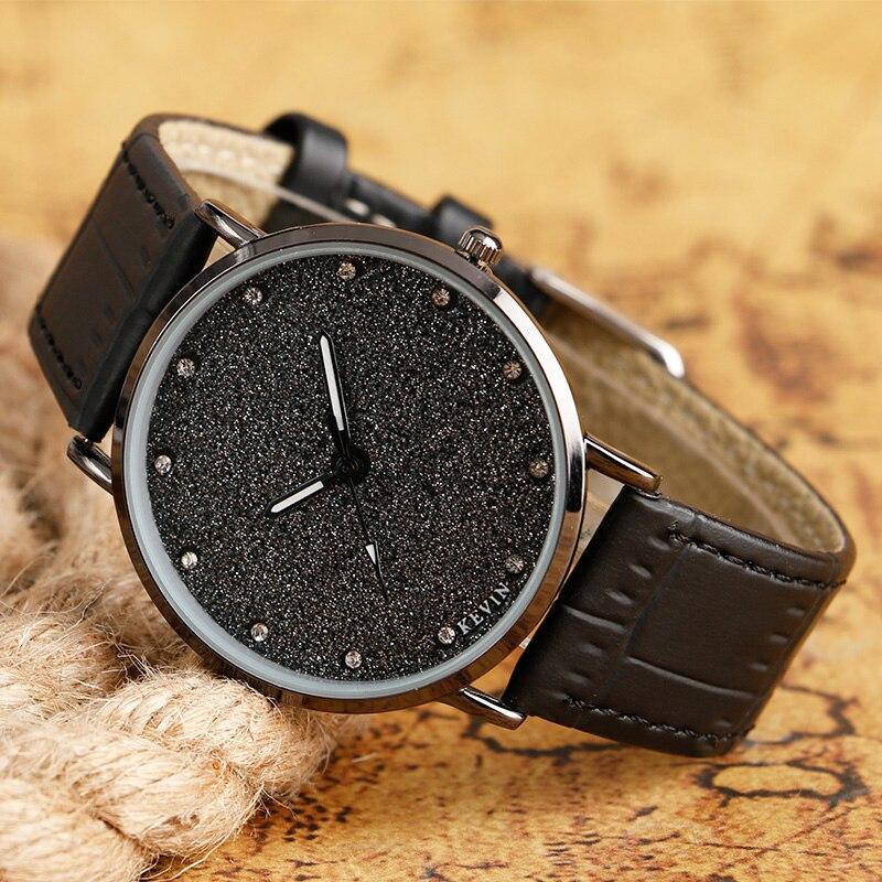 Fashion Women Watches Round Analog Bracelet Quartz Female Clock Blooming Glitter/Smooth Dial Leather Strap Modern Wristwatch стоимость