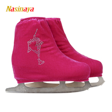 24 Colors Child Adult Velvet Ice Skating Figure Skating Shoes Cover Roller Skate Fabric Accessory White Skater 1 Rhinestone