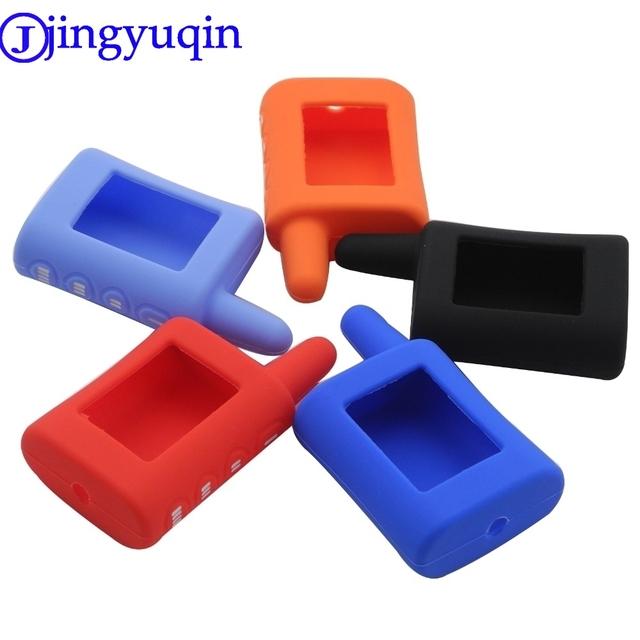 jingyuqin 4 Buttons Remote for Scher-Khan Magicar A/B Silicone Key Case Two Way Car Alarm 2-way Car Alarm Controller Keychain