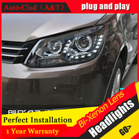 Auto Clud 2010 2015 Vw Touran Headlights LED Light DRL Car Styling Bi Xenon Lens HID