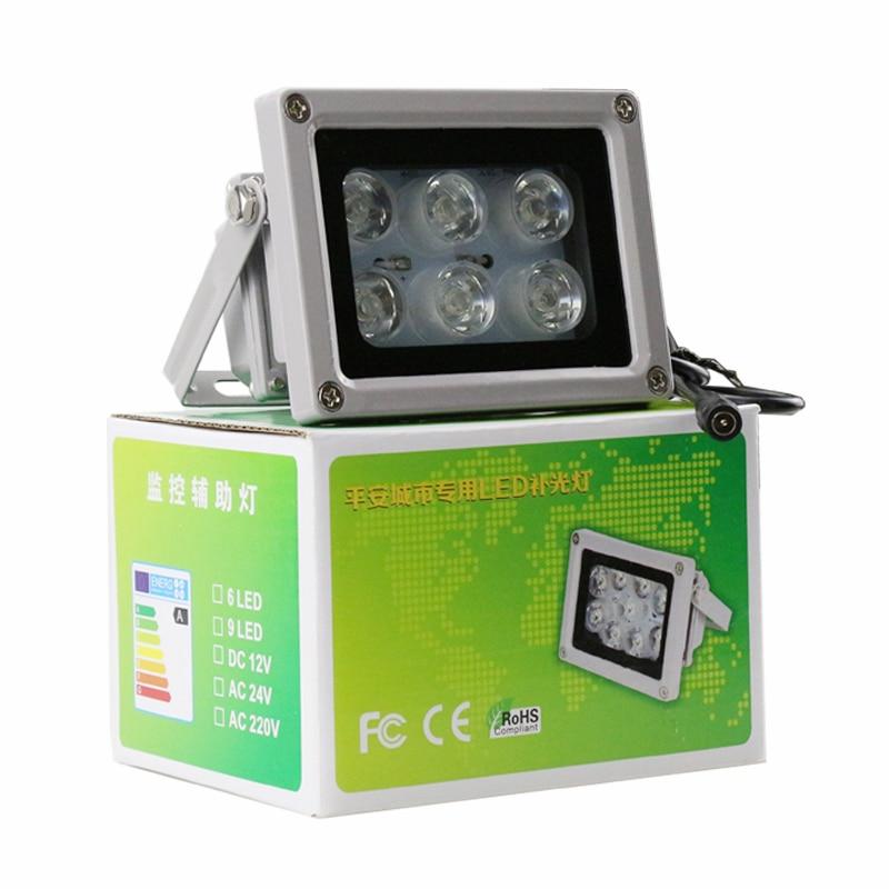 bilder für Im freien Wasserdichte Überwachung Infrarot/Weiß 6 stücke Array Led IR strahler Nachtsicht Füllen Licht Lampe Freies Verschiffen