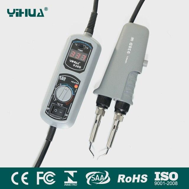 Newest 110V 220V EU US GB AU PLUG YIHUA 938D Portable Hot tweezers Mini Soldering Station