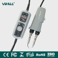 Newest 110V/220V EU/US/GB/AU PLUG YIHUA 938D Portable Hot tweezers Mini Soldering Station Hot Tweezer for BGA SMD repairing
