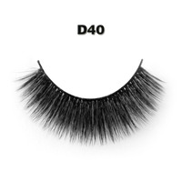 High Quality 1Pair 3D Natural Silk False Eyelashes Handmade Eye Lashes Strengthen The Eyelash Free Shipping