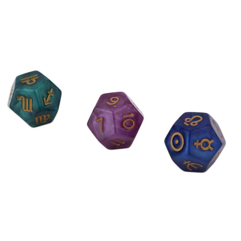 Горячее предложение! Распродажа! 3 шт. 9 многогранных игральных кубиков астрологические креативные игральные кости набор многогранные акриловые кости для EZ Созвездие игр новая распродажа