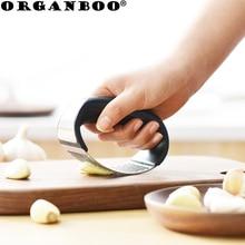 ORGANBOO Unid 1 PC Acero inoxidable curvado ajo prensa multifunción manual ajo picador triturador creativo cocina gadgets