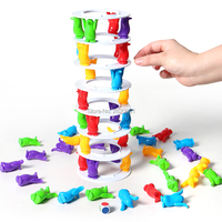 Penguin tower collapse novelty game for family Parent child game toy set,balance tower crazy penguin crash tower challenge game