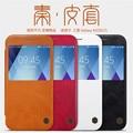Original nillkin qin série vista tampa de couro carteira case para samsung galaxy a3 a5 a7 2017 a520 a720 telefone flip bolsas case