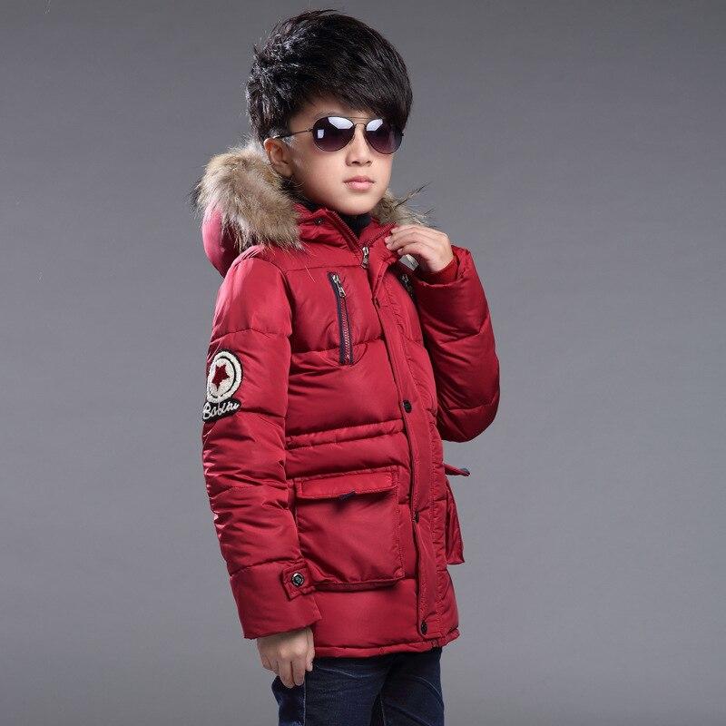 ФОТО Kids boys winter coat winter child outerwear #30 black/army green/wine red jongens winterjas winter jacket for boy