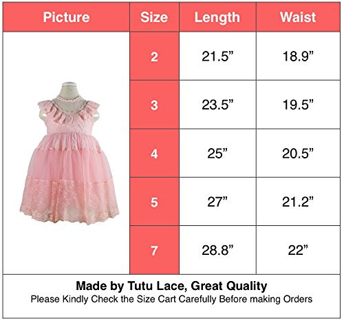 2017 vestido de encaje de las niñas tutu rosa volantes bordados - Ropa de ninos - foto 2