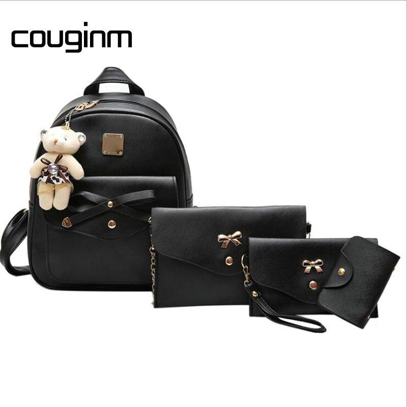 Pcs, Backpack, Bag, Set, COUGINM, Women