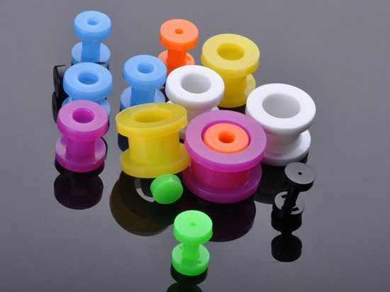 Mix 8Pcs/lot Fake Cheater Acrylic Ear Plugs And Tunnels Ear Expander Stretchers Ear Tragus Piercing Kit Body Jewlery 2-12mm