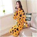 2017 Новый Фланель Халаты Для Женщин Кимоно Халаты Печатных Крытый Пижамы Осень Одежды Для Дам